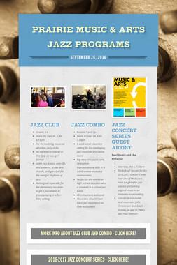 Prairie Music & Arts Jazz Programs