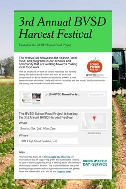 3rd Annual BVSD Harvest Festival