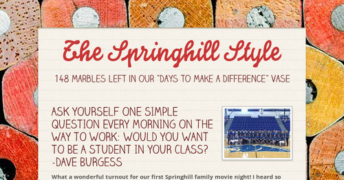 The Springhill Style | Smore Newsletters for Education