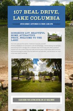 107 Beal Drive, Lake Columbia