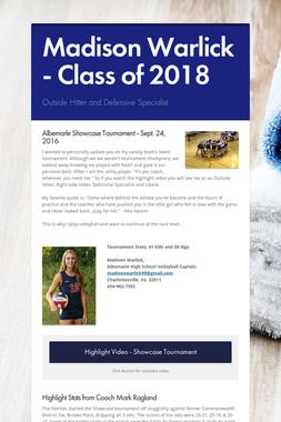 Madison Warlick - Class of 2018