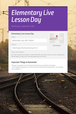 Elementary Live Lesson Day
