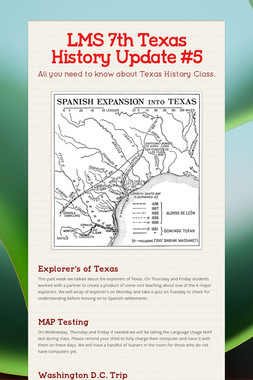 LMS 7th Texas History Update #5