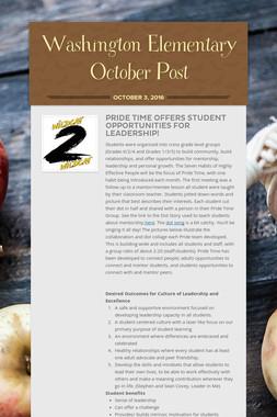 Washington Elementary October Post