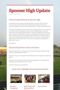 Spooner High Update