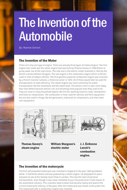 The Invention of the Automobile