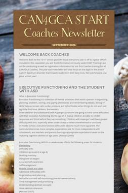 CAN4GCA START Coaches  Newsletter