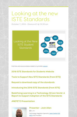 Looking at the new ISTE Standards