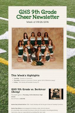 GHS 9th Grade Cheer Newsletter