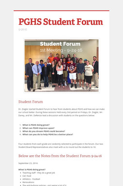 PGHS Student Forum