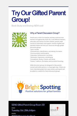 Try Our Gifted Parent Group!