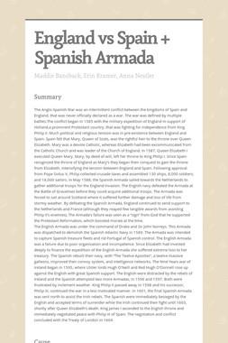 England vs Spain + Spanish Armada