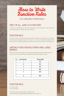 How to Write Function Rules