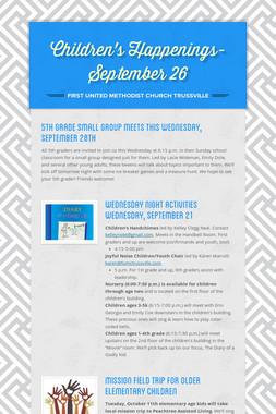 Children's Happenings-September 26