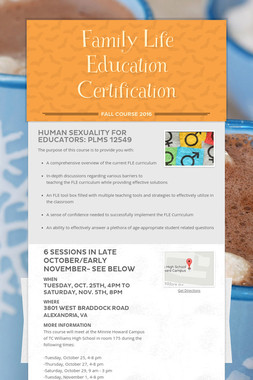 Family Life Education Certification