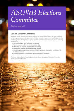 ASUWB Elections Committee