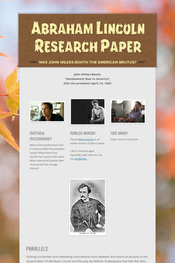 Abraham Lincoln Research Paper