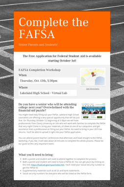 Complete the FAFSA