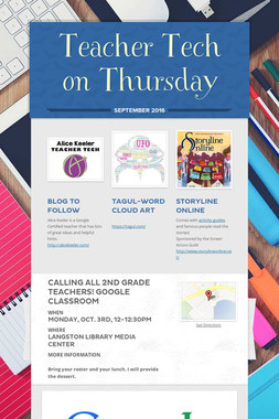 Teacher Tech on Thursday
