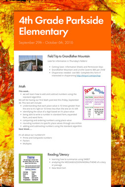 4th Grade Parkside Elementary