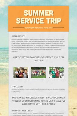 Summer Service Trip