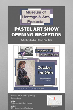 Pastel Art Show Opening Reception
