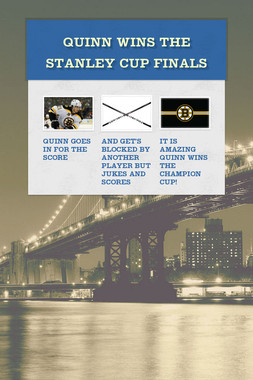 Quinn wins the Stanley cup finals