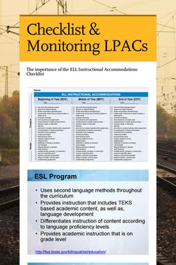 Checklist & Monitoring LPACs