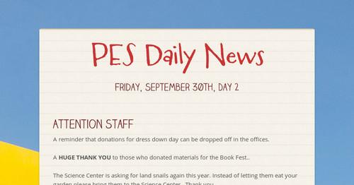 21d2555ffaf869 PES Daily News