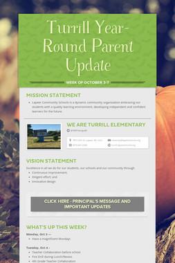 Turrill Year-Round Parent Update