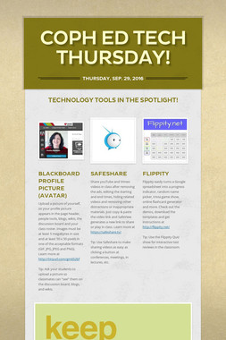 COPH ED TECH THURSDAY!
