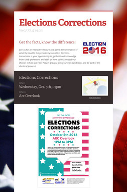 Elections Corrections