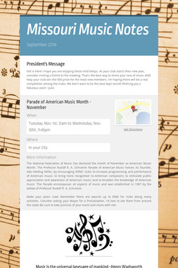 Missouri Music Notes