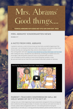 Mrs. Abrams' Good things....