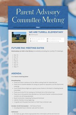 Parent Advisory Committee Meeting