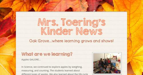 Mrs  Toering's Kinder News | Smore Newsletters for Education
