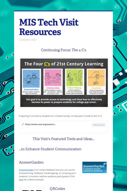 MIS Tech Visit Resources