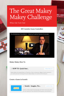 The Great Makey Makey Challenge