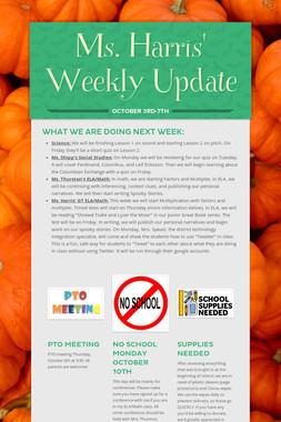 Ms. Harris' Weekly Update