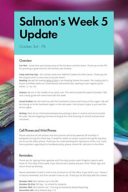 Salmon's Week 5 Update