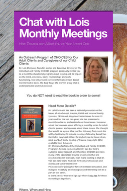 Chat with Lois Monthly Meetings