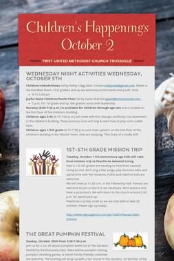 Children's Happenings     October 2