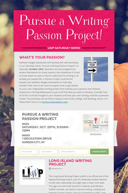 Pursue a Writing Passion Project!