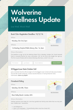 Wolverine Wellness Update