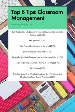 Top 8 Tips:  Classroom Management