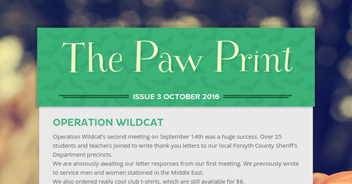 The Paw Print | Smore Newsletters for Education