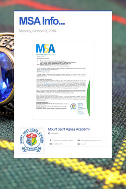 MSA Info...