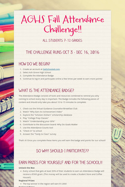 AGHS Fall    Attendance Challenge!!