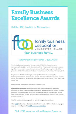 Family Business Excellence Awards