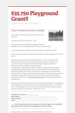 $35,750 Playground Grant!!